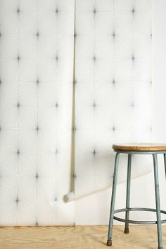 Graham & Brown Dixie Wallpaper in silver and white