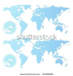 Vector paint brush stock vector stock vector pinterest paint find this pin and more on stock vector dotted world map gumiabroncs Images