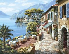 Sung Kim - Overlook Cafe II - Fine Art Print