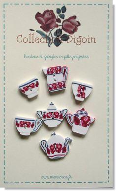 des boutons en porcelaine, collection Digoin 2013