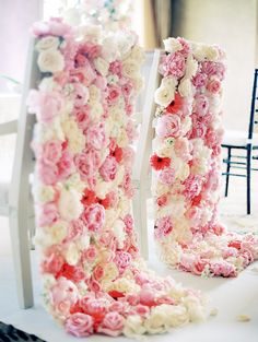 Beautiful chair decoration (Florist, Rentals Drapery: Plants 'N Petals) - Houston Wedding from Nancy Aidee Photography Keely Thorne Events Wedding Chair Decorations, Wedding Chairs, Floral Decorations, Wedding Seating, Decor Wedding, Perfect Wedding, Dream Wedding, Wedding Day, Elegant Wedding