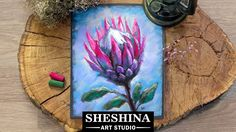 How to draw a Protea flower with soft pastels Flowers Sheshina Ekaterina