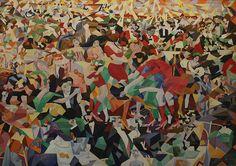 La Danza Del Pan Almanico, 1911 by Gino Severini in the Center Georges Pompidou, Paris. Severini was a core Futurist. Pablo Picasso, Tate Modern Exhibitions, Gino Severini, Italian Futurism, Georges Pompidou, Dance Paintings, Creators Project, Georges Braque, Italian Painters