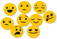 Music-Go-Rounds: EMOJIs.  Emojis are a fun way to help kids learn how to recognize and express emotions. Use them to identify major/minor and moods in music, have kids use their faces to recreate emojis, imagine what sound each emoji would make, or think of descriptive words to match their expressions. Set of 9