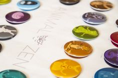 Animal Zen colourful buttons.