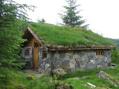 Stone Cabin with sod roof Rental - 4 man, price 500/350 kr per night, Norway
