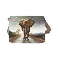 The Elephant Messenger Bag (Model Messenger Bag, Thankful, Sunset, Model, Bags, Painting, Sunsets, Handbags, Taschen