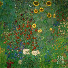 Art.fr - Reproduction d'art 'Jardin aux tournesols, vers 1912' par Gustav Klimt