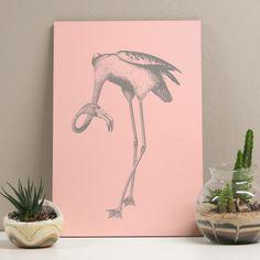 Placa decorativa - Rose Flamingo - Decohouse