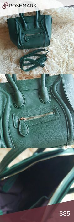 Mini arm green bag purse smile Celine Brand new bag,   can fit in it  iPad. Faux leather will ship out within 1-2 business days. I have other colors. Bags Shoulder Bags