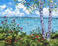 Gorgeous Harbor Springs Michigan oil painting by Hramiec Hoffman