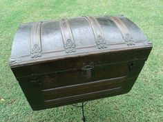 Steamer Trunk (manufacture Unknown) Cir; 1800's Semi Restored