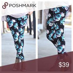 🎉💙 price drop until 10! Floral soft legging Floral soft legging with mint and lavender flowers Infinity Raine Pants Leggings