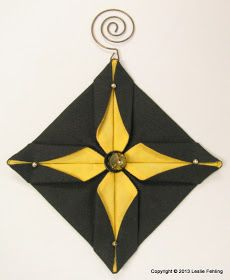 Origami, the art of folding paper into fanciful shapes, takes on a whole new dimension when it's done with fabric instead of the tissue pape...