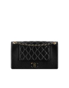 Iridescent sheep flap bag with... - CHANEL