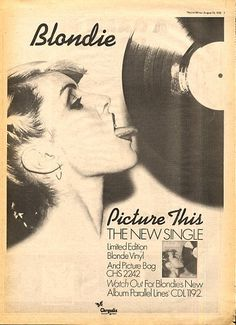 Debbie harry ad for new blondie single