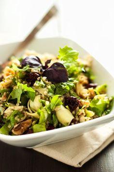 Artichoke, Arugula & Quinoa Salad ~ via Cooking Quinoa Salad Recipes, Vegan Recipes, Cooking Recipes, Alkaline Recipes, Smoothie Recipes, Superfood, Healthy Cooking, Healthy Eating, Healthy Food