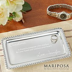 Mariposa® String of Pearls Personalized Jewelry Tray