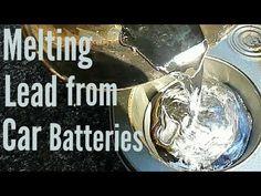 Melting Lead From Car Batteries Golf Cart Batteries, Optima Battery, Car Polish, Car Cleaning Hacks, Clean Your Car, Lead Acid Battery, Diy Car, Metal Working, It Cast