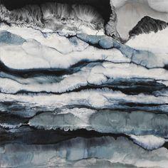 "Lia Melia; Mixed Media, 2009, Painting ""On The Rocks"""