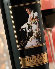 Elvis Presley Wine Label