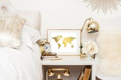 Hey, I found this really awesome Etsy listing at https://www.etsy.com/listing/235359139/world-map-art-print-real-gold-foil-world
