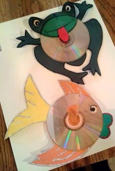 sapo cd reciclado