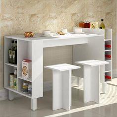 Balcão mesa com adega e nichos Decari 31040 - Palmeira