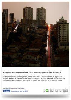 Brasileiro ficou em média 18 horas sem energia em 2011, diz Aneel