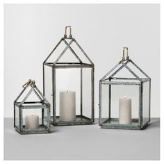 Hearth & Hand with Magnolia Galvanized House Lanterns | Chip and Joanna Gaines may be ending Fixer Upper after five seasons, but luckily for fans, they've collaborated on a brand-new brand with Target so you can bring a piece of their style into your own home. Hearth & Hand with Magnolia is a Target-exclusive brand created in partnership with Chip and Joanna, marking the first time the Gaines have partnered with a retailer to design products. The collection is an assortment of home décor