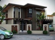 2 storey house design, house exterior design, house outside des Minimalist House Design, Minimalist Home, Modern House Design, Double Storey House, 2 Storey House Design, Philippine Houses, Design Exterior, Modern House Plans, Modern Zen House