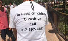 Dad Wears and#039;In Need Of Kidneyand#039; T-shirt At Disney World And It Saved His Life