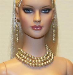 """Sophisticated Lady"" Jewelry Set for Tonner Tyler Ellowyne DeeAnna Gene Sybarite"