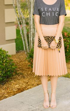 Yellow Pleated Midi Skirt w/ Bow Belt | Pleated Midis | Pinterest ...