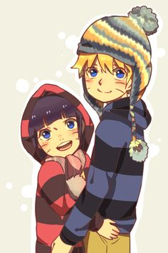 Bolt and Hima-chan bundle up for the winter