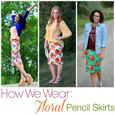 How We Wear: Floral Pencil Skirts with The Jean Girl | SixSistersStyle.com