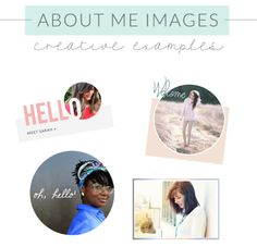 creative about me images
