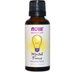 Now Foods, Essential Oils, Focusing Blend, Mental Focus, 1 fl oz (30 ml) - iHerb.com