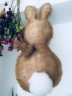 Easter bunny diy (door decoration)