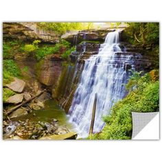 Cody York Brandywine Falls 2 inch Removable Wall Art Graphic, Size: 12 x 18, Brown