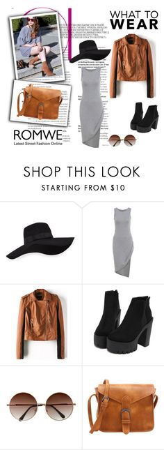 """""""Romwe 4/VIII"""" by nermina-okanovic ❤ liked on Polyvore featuring San Diego Hat Co. and romwe"""