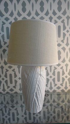 Vintage Hollywood Regency White Lamp