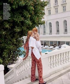 Model Caroline Trentini is lensed by Mario Testino with her two children Bento Jacob and Benoah in 'Home Chic Home'. Tonne Goodman styled the Brazilian-born Caroline for Vogue US March Hair by Max Weber; Mario Testino, Valentino Shirt, Valery Kaufman, Caroline Trentini, Laide, Vogue Living, Vogue Us, Velvet Pants, Tonne