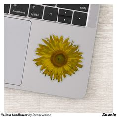 Yellow Sunflower Sticker This cheerful Yellow Sunflower Contour Sticker will brighten up your laptop computer or water bottle. This cute cutout sticker features a floral photograph of a yellow sunflower blossom. Perfect for a flower lover, gardener or florist. #sunflowerstickers #yellowsunflowers #stickers #sunflower Orange Sunflowers, Yellow Sunflower, Sunflower Gifts, Farewell Gifts, Vinyl Sheets, Florists, Personalized Stickers, Decorated Water Bottles, Appreciation Gifts