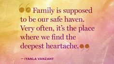 Even the most picture-perfect families have unseen cracks. Get Iyanla Vanzant's thoughts on how to cope if your family is facing a breakdown.