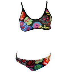 Halloween Bikini for all aquatics sports Water Polo, Bikinis, Swimwear, Crop Tops, Halloween, Sports, Women, Fashion, Bathing Suits