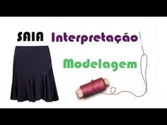 DICA DE HOJE - Interpretando Saia com babado assimétrico AULA 1 - YouTube