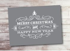 Happy New Year Christmas Instant Download and Print by AIPecards