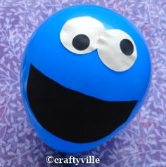 cookie monster balloons Balloons for party decoration for Sesame Street party theme