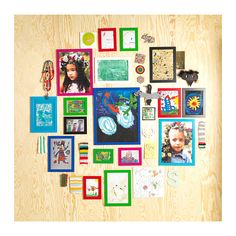 NYTTJA Frames Grouping IKEA, multi-sized & colored frames - small profile frames don't interfere with the art